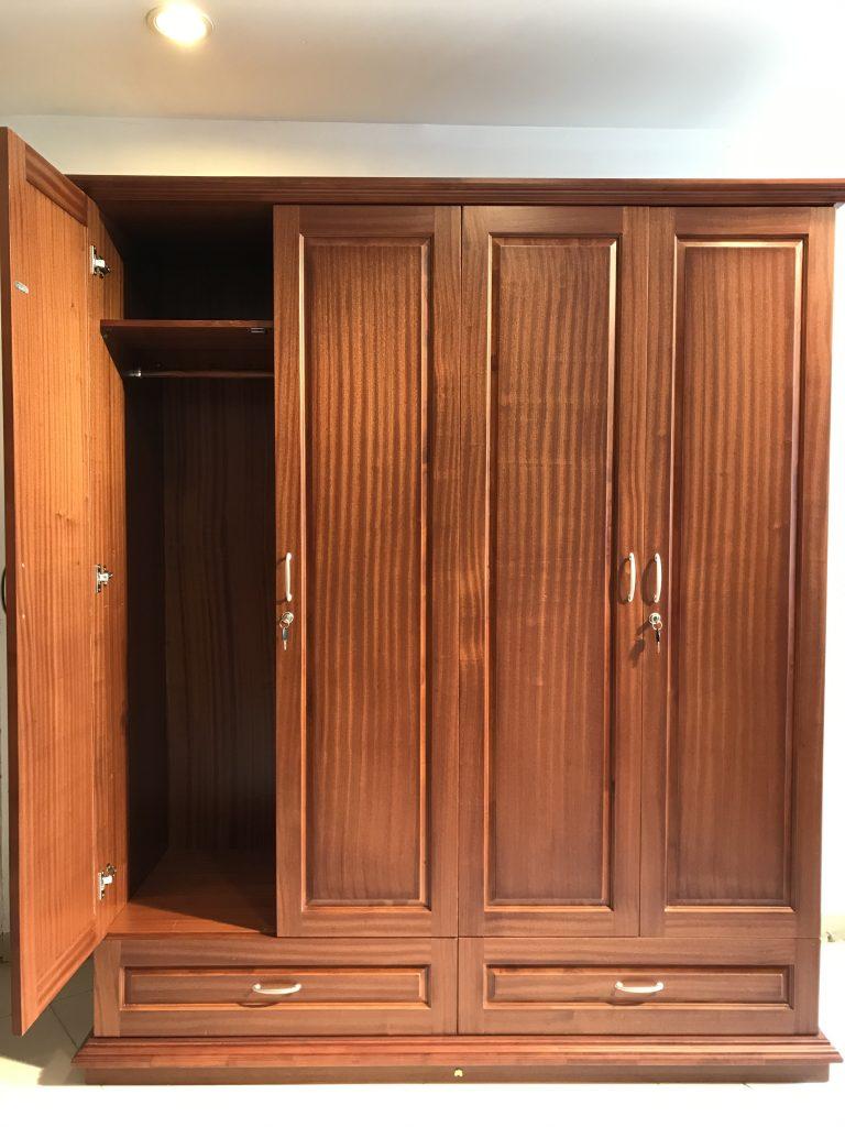 Tủ gỗ 4 buồng Hoàng Anh Gia Lai.