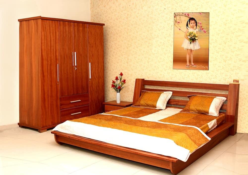 Tủ quần áo mẫu HN7 và giường ngủ mẫu HN6